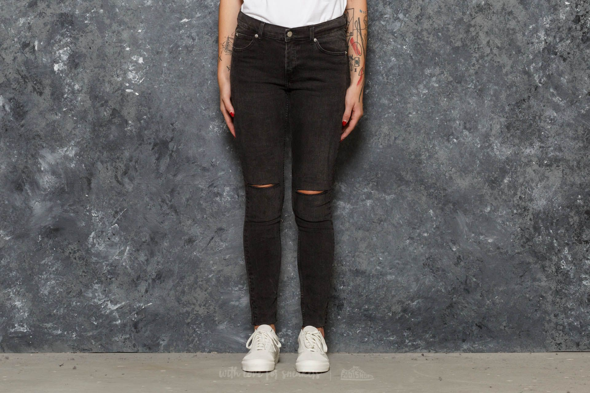 cheap monday tight jeans cosmo black footshop. Black Bedroom Furniture Sets. Home Design Ideas