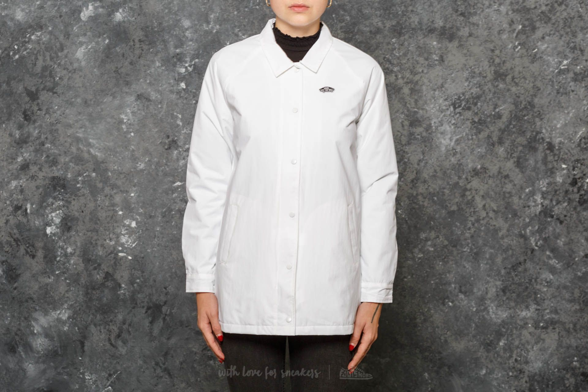 Vans Thanks Long Mte Coach Jacket White Footshop