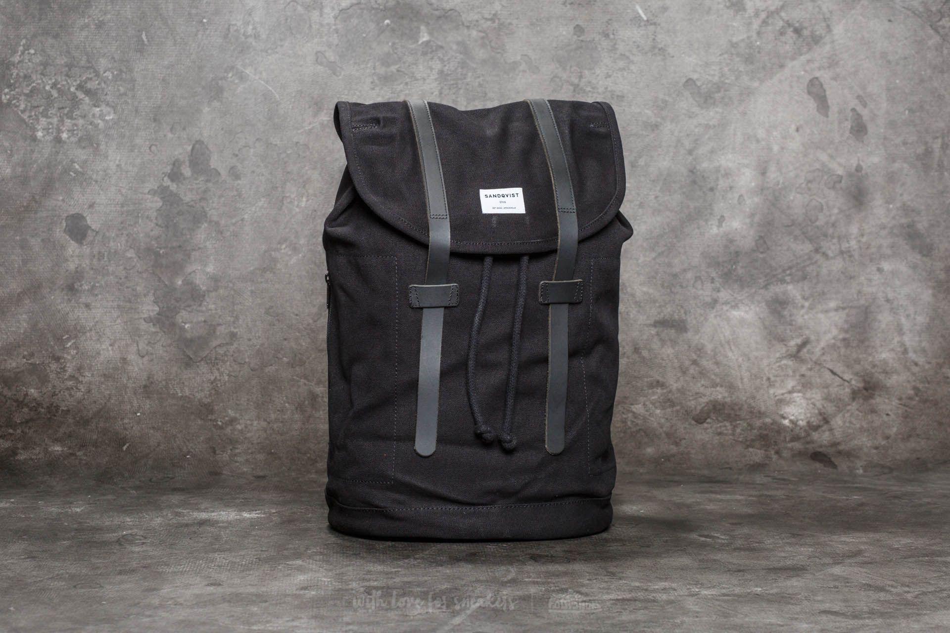 Sandqvist Stig Large Backpack Black  91b18bf9d5