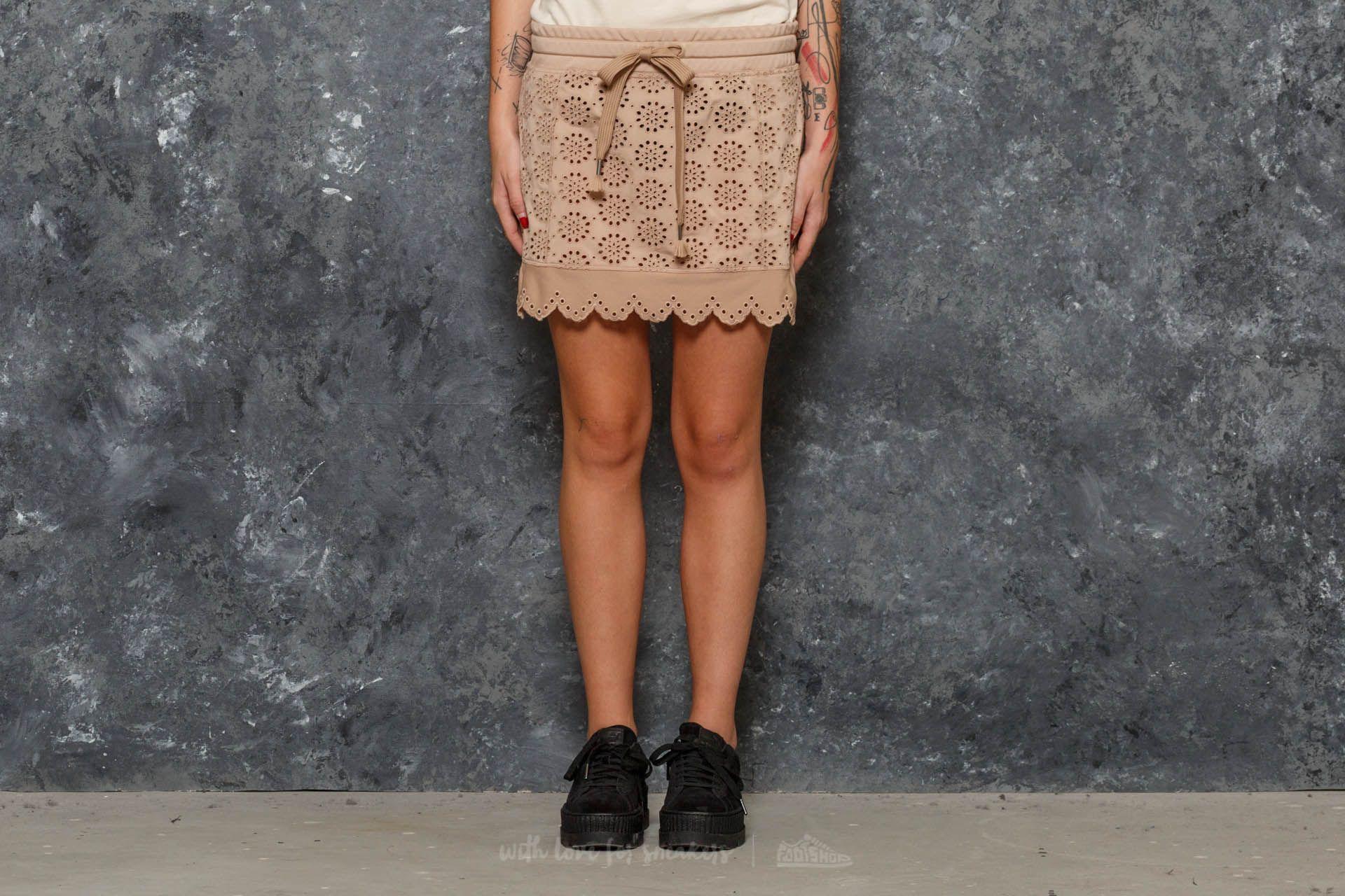 Puma Fenty x Rihanna Embroidered Edge Mini Skirt Natural
