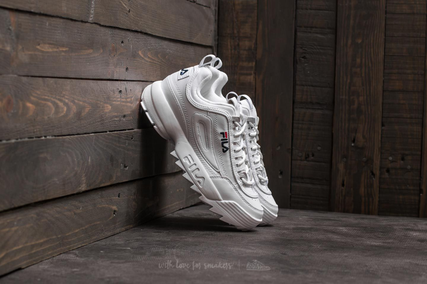 89ee5a1dab6 FILA Disruptor Low Wmn White