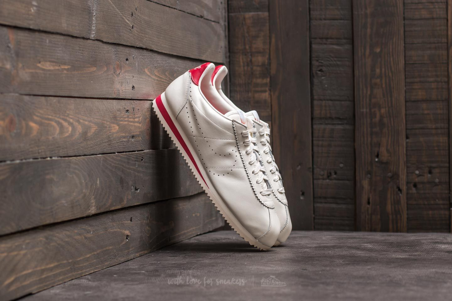 Nike Classic Cortez Leather Premium Sail/ Sail/Gzm Red