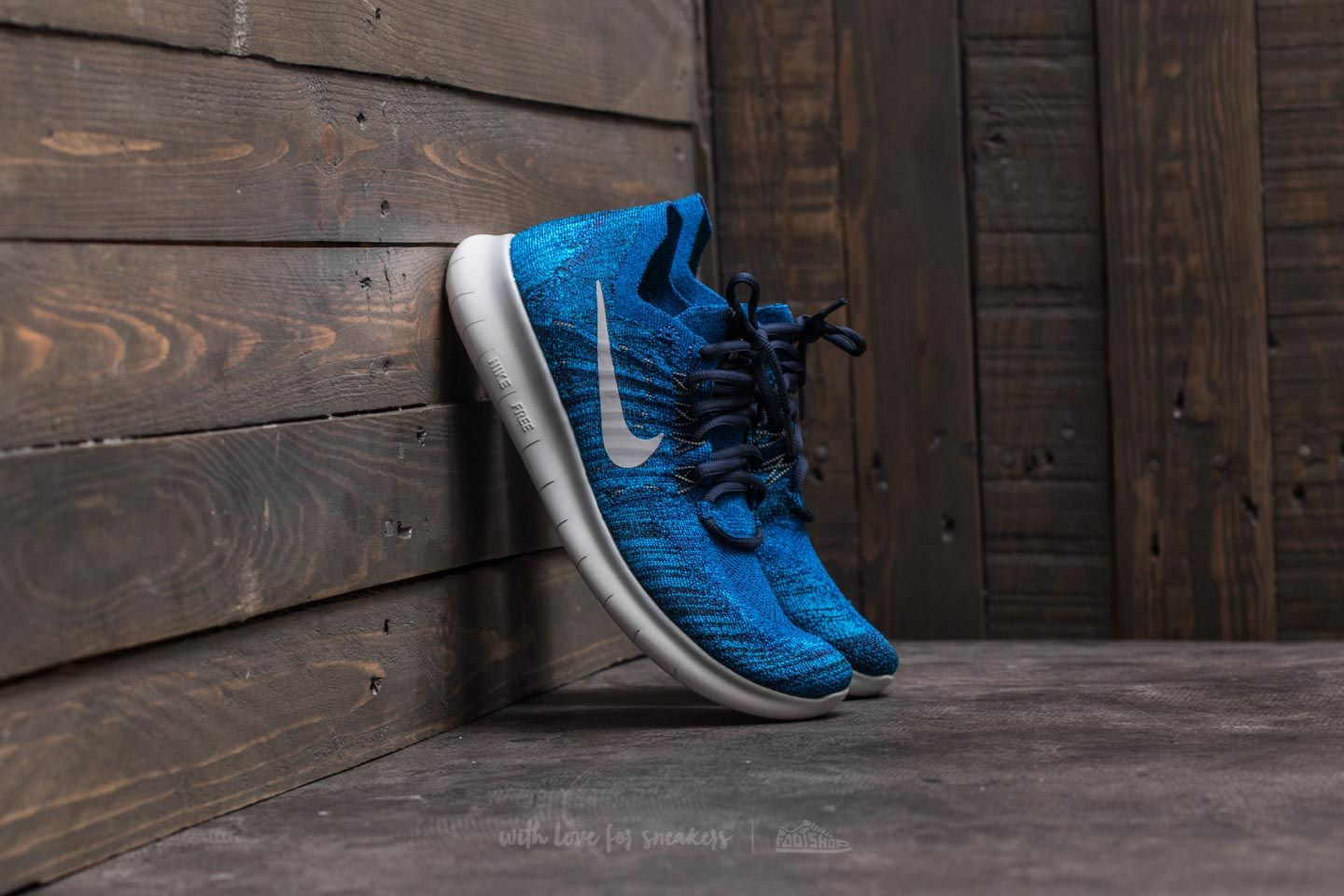 cheaper 6e0a1 776d2 Nike Free Run Flyknit 2017. Deep Royal Blue  Wolf Grey