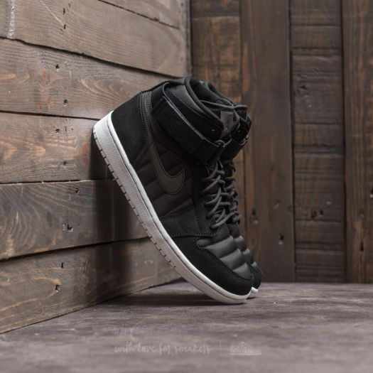 afb6aa99470 Air Jordan 1 High Strap Black  Black-Pure Platinum