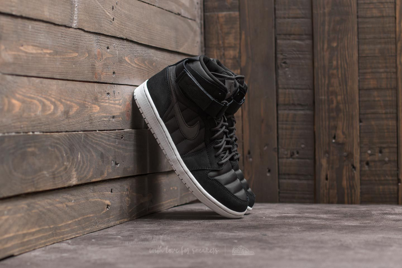 49f9657fcb7 Air Jordan 1 High Strap Black  Black-Pure Platinum