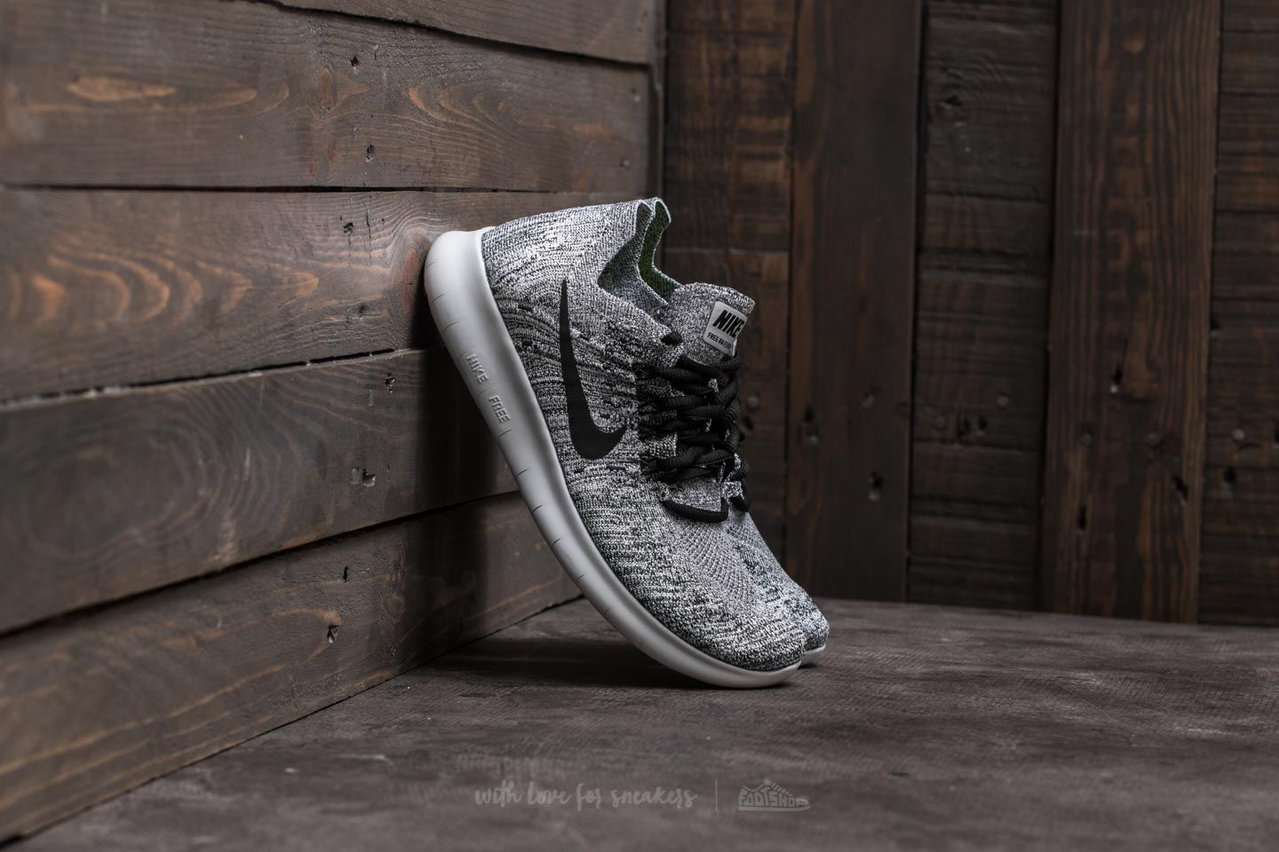 huge selection of 349f5 87c79 Nike Wmns Free Run Flyknit 2017. White  Black-Stealth