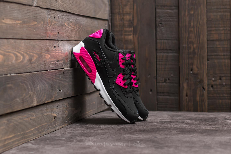 dfa0397fa6 Nike Air Max 90 Leather (GS) Black/ Pink Prime-White | Footshop