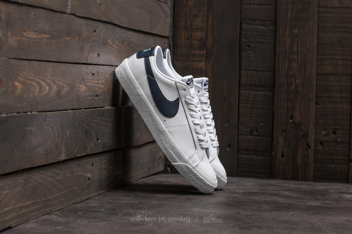 save off d6e04 ce122 Nike SB Zoom Blazer Low White/ Obsidian | Footshop