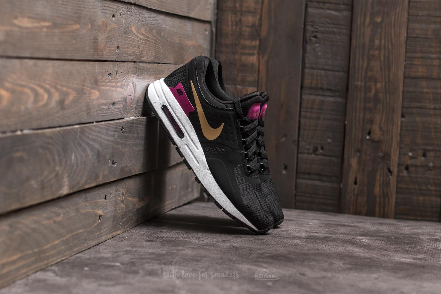 4d94391985be5 Nike Air Max Zero Essential (GS) Black/ Metallic Gold-White | Footshop