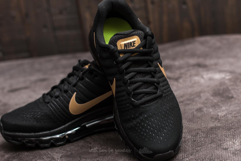 Nike Air Max 2017 (Gs) 851622 010 SchwarzMetallic Gold