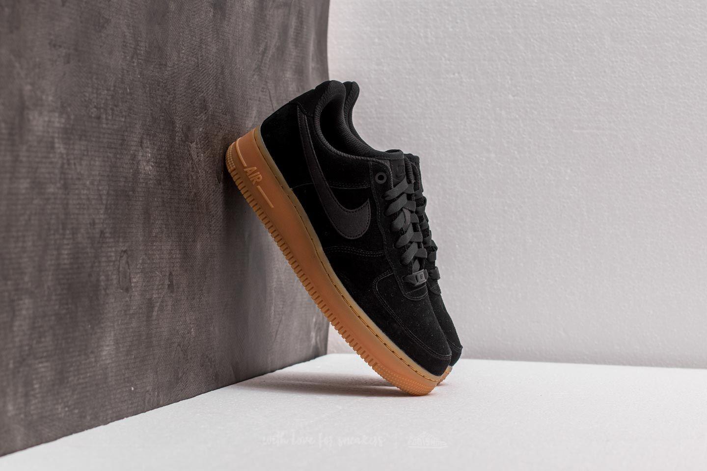 cc0771144230 Nike Wmns Air Force 1 07 SE Black  Black  Gum Medium Brown ...