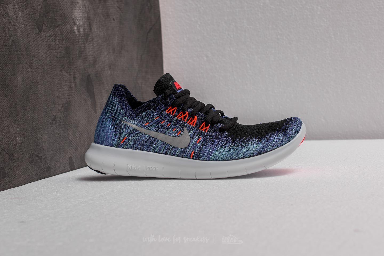 premium selection 4ec90 40315 Nike Wmns Free RN Flyknit 2017 Black/ Metallic Silver | Footshop