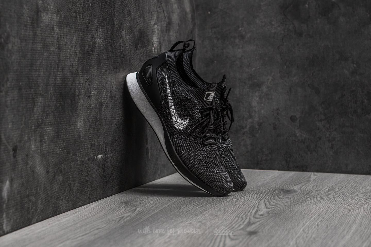 503978545a7d Nike Air Zoom Mariah Flyknit Racer Black  White-Dark Grey