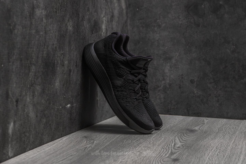 Grifo Elevado clímax  Men's shoes Nike Lunarepic Low Flyknit 2 Black/ Black-Racer Blue