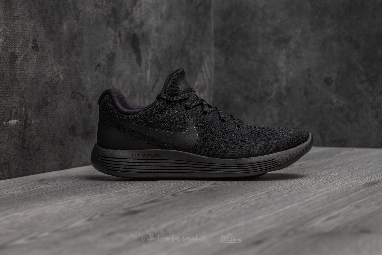 online store 102f3 6d74e Nike Lunarepic Low Flyknit 2 Black/ Black-Racer Blue   Footshop