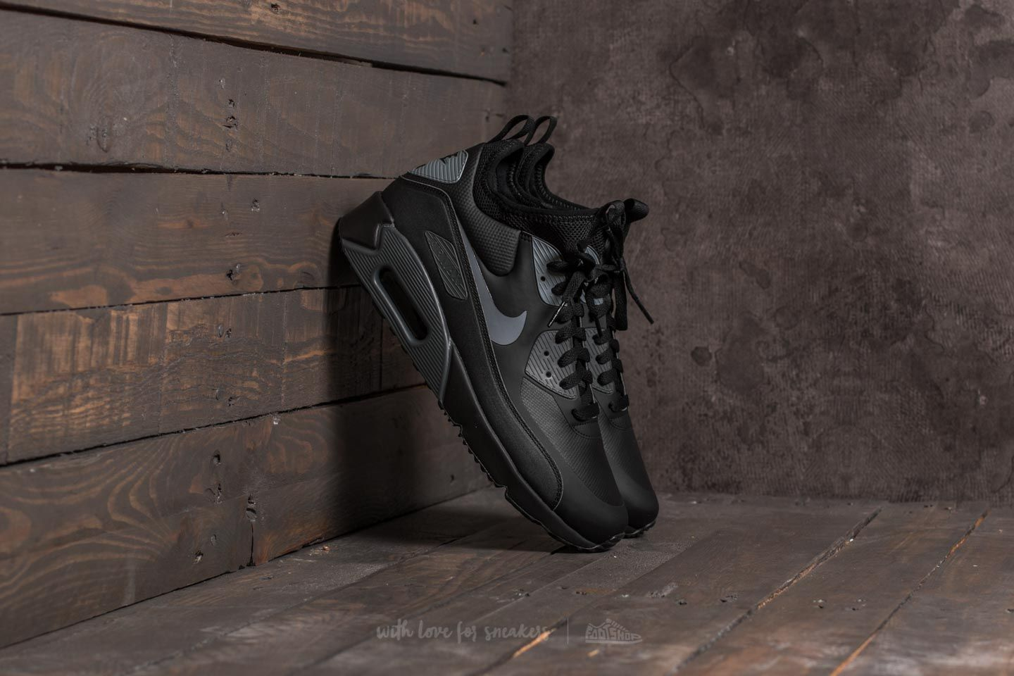 ed9e467bea Nike Air Max 90 Ultra Mid Winter Black/ Cool Grey-Anthracite | Footshop
