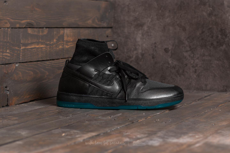 finest selection 354bc 1b450 Nike SB Zoom Dunk High Elite Black/ Black-Dark Atomic Teal ...
