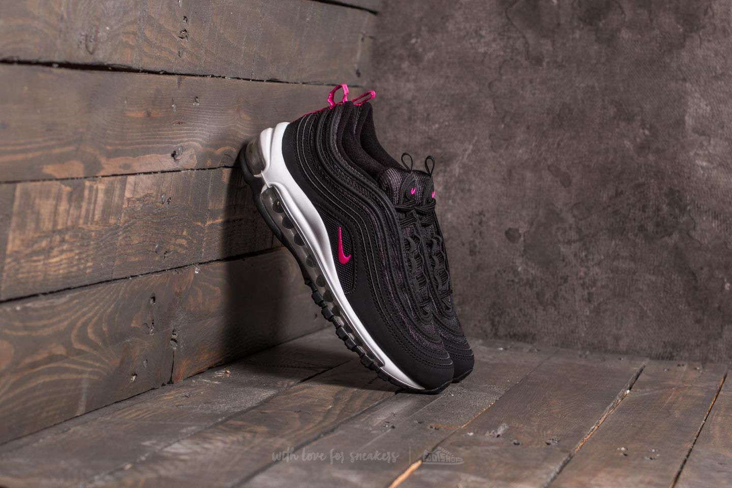 c184874f54e1 Nike Air Max 97 (GS) Black  Pink Prime-White