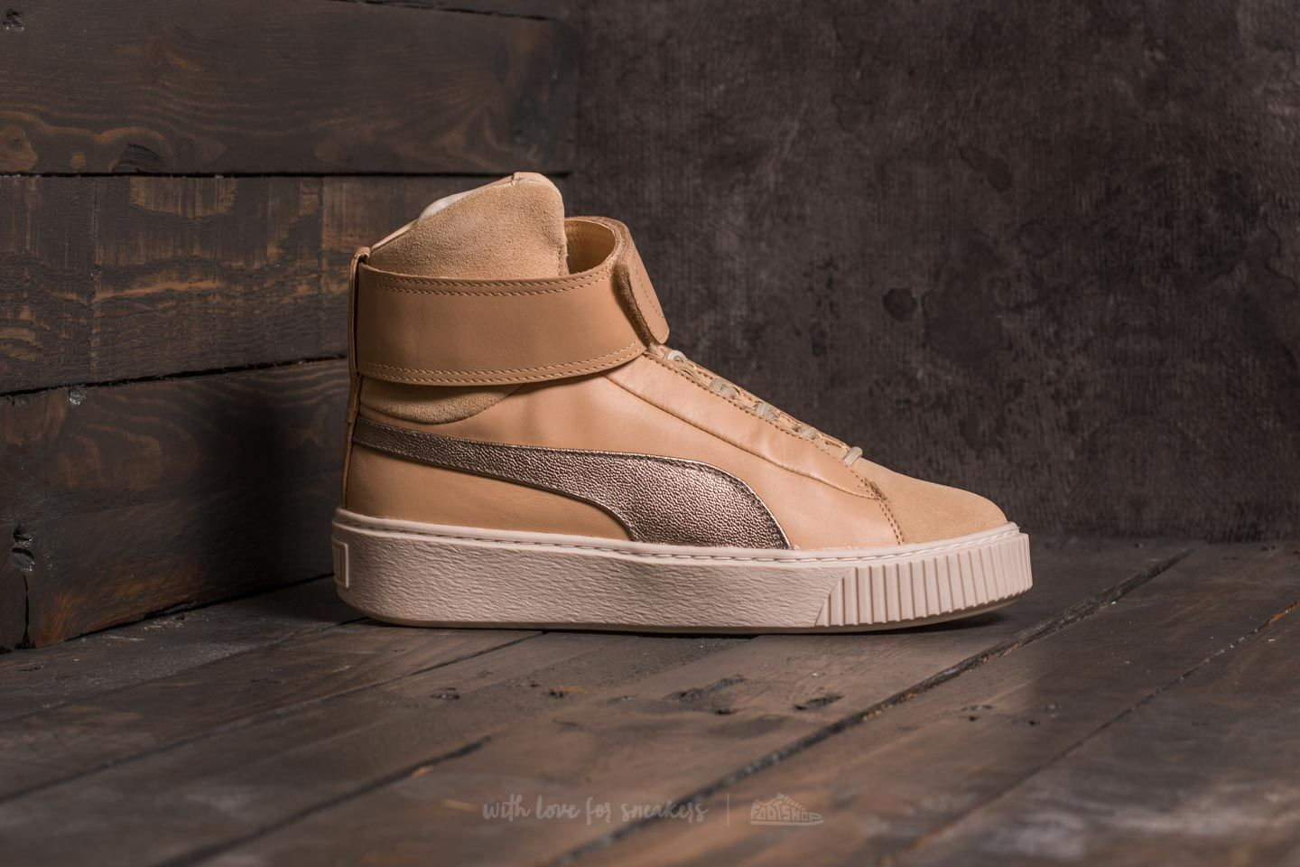 PUMA Multicolor Basket Platform Mid Up Wn's Natural Vachetta birch