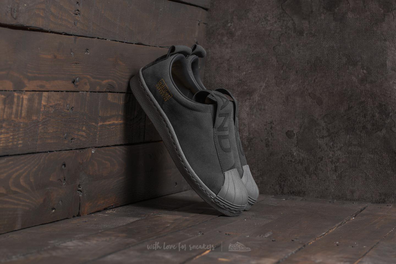 new product 49934 68f0c adidas Superstar BW3S Slip On Grey Five/ Grey Five/ Grey ...