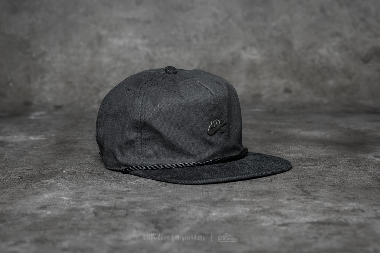 Nike SB Waxed Canvas Pro Cap Black  bf27c055b408