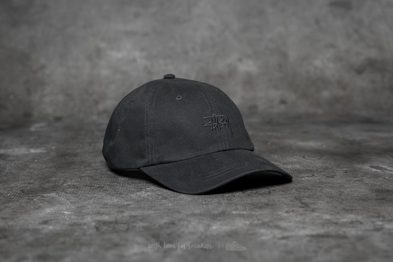 487d3e47 Stüssy Basic Logo Low Pro Cap Black | Footshop