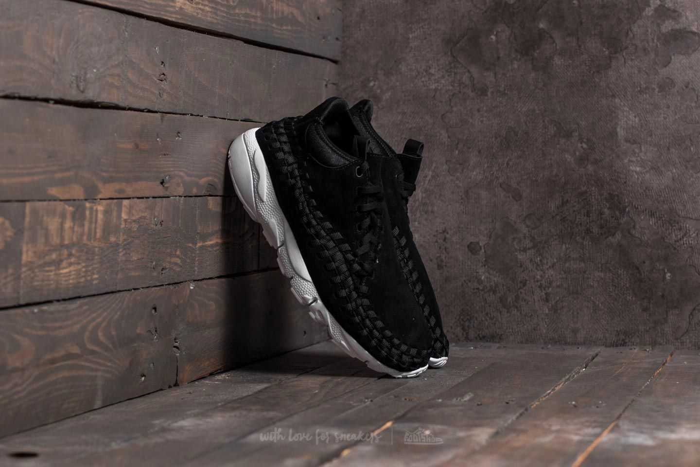 online store 7a2b2 b0173 Nike Air Footscape Woven Chukka Black/ Black-White | Footshop