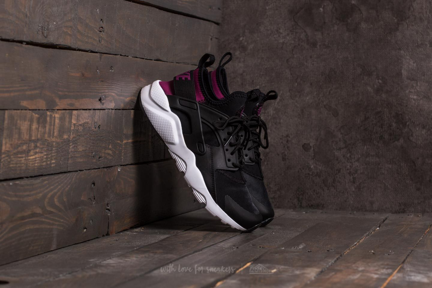 170874ac0f4d3 Nike Air Huarache Run Ultra (GS) Black  Tea Berry-Black-White ...