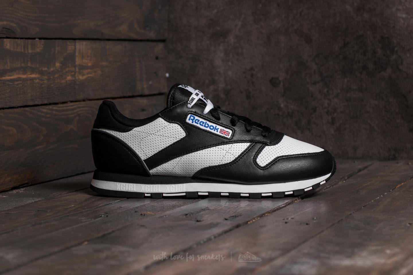 Reebok Classic Leather x X-GIRL Black  White  Grey at a great price 145b50971