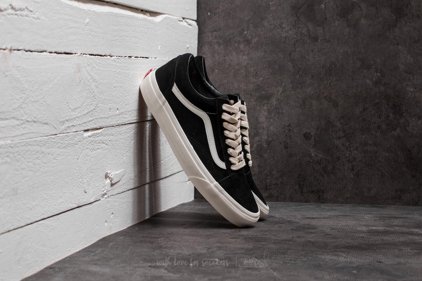 Vans Old Skool (Herringbone Lace) Black  Marshmallow  c52671280