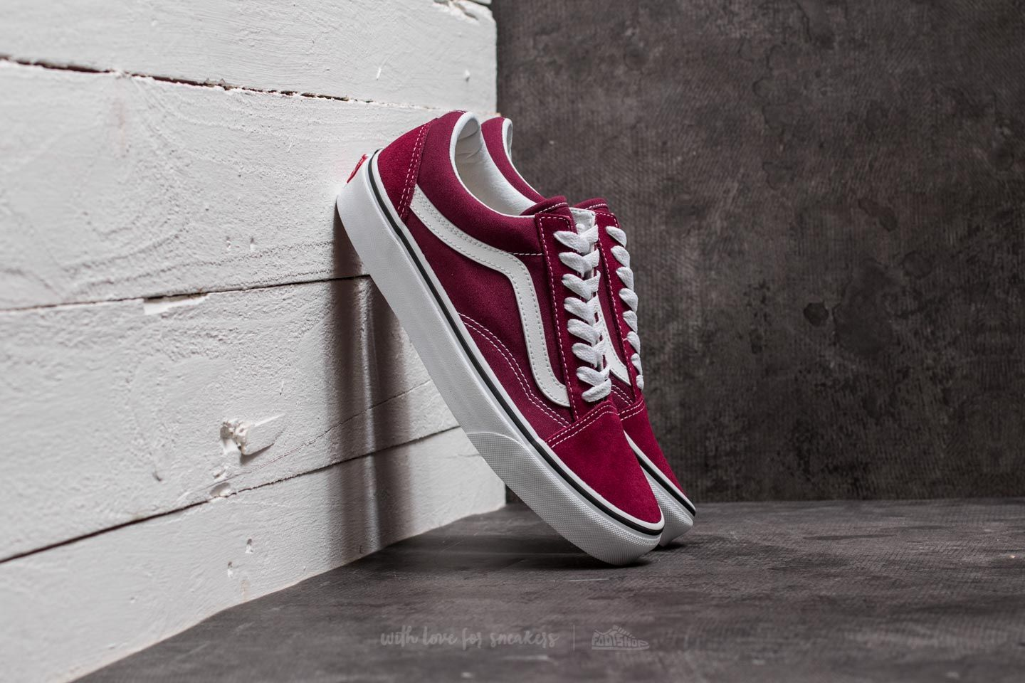 Vans Old Skool Burgundy  True White  bfe3a9b9f
