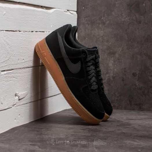 Nike Air Force 1 '07 LV8 Suede Black/ Black-Gum Medium ...