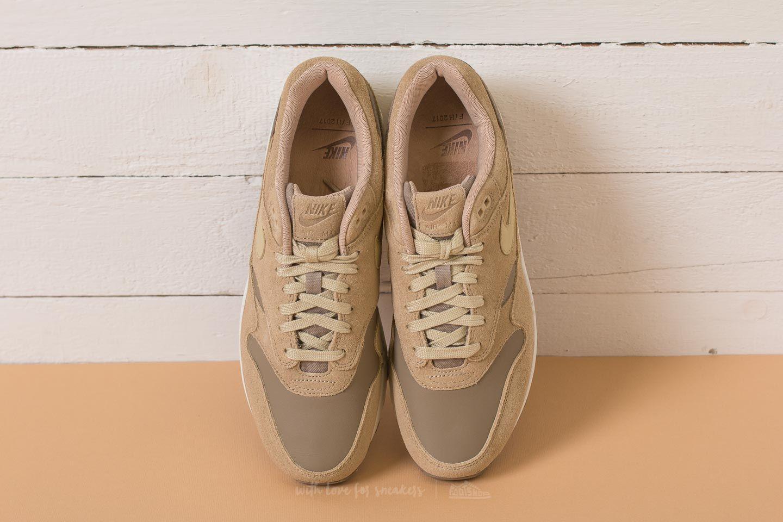 On Feet: Nike Air Max 1 Premium Leather Khaki