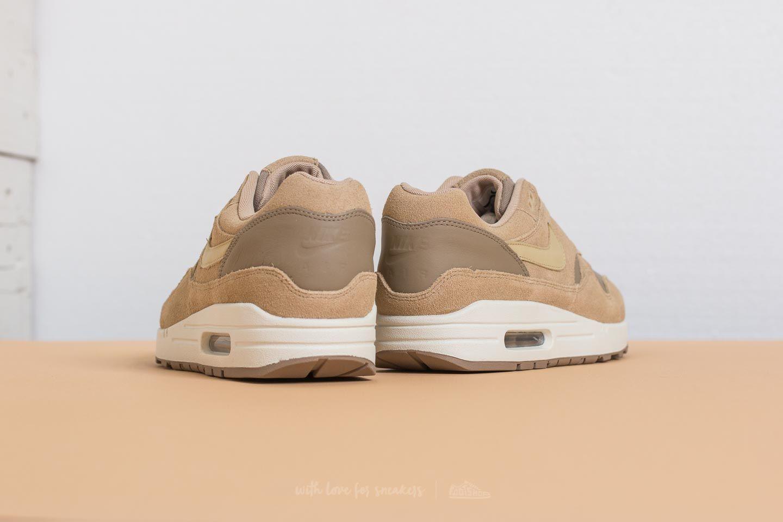Nike Air Max 1 Premium Leather Khaki Team Gold Mushroom Sail | Footshop
