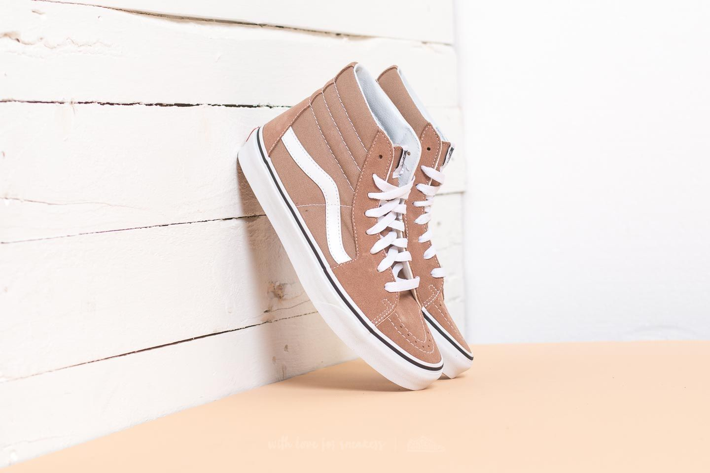 8961d7aed054 Vans Sk8-Hi Tiger s Eye  True White
