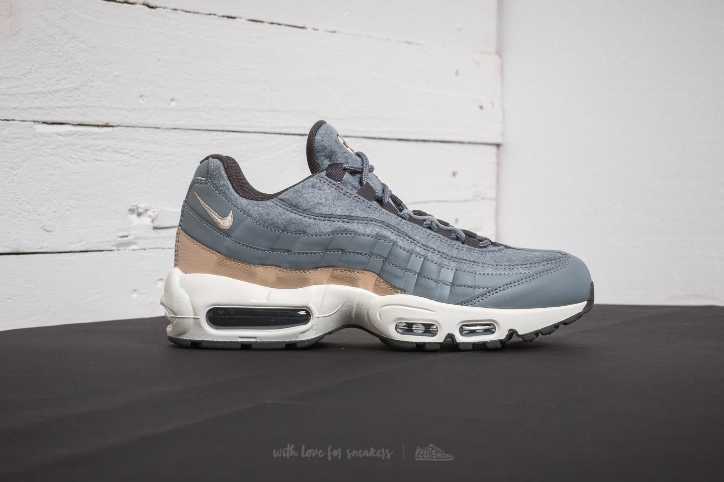 best sneakers c3fdd e40e2 Nike Air Max 95 Premium Cool Grey/ Mushroom-Deep Pewter ...