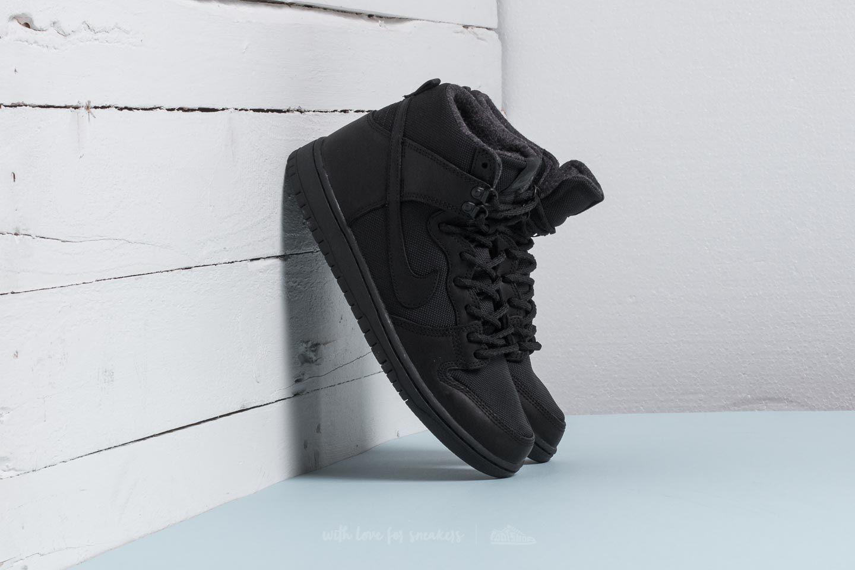 168cc59dd4 Nike SB Zoom Dunk Hi Pro Bota Black  Black-Anthracite