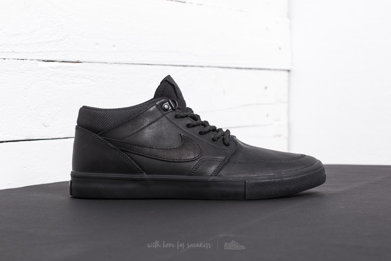Nike SB Portmore II Solar Mid Premium Black Black