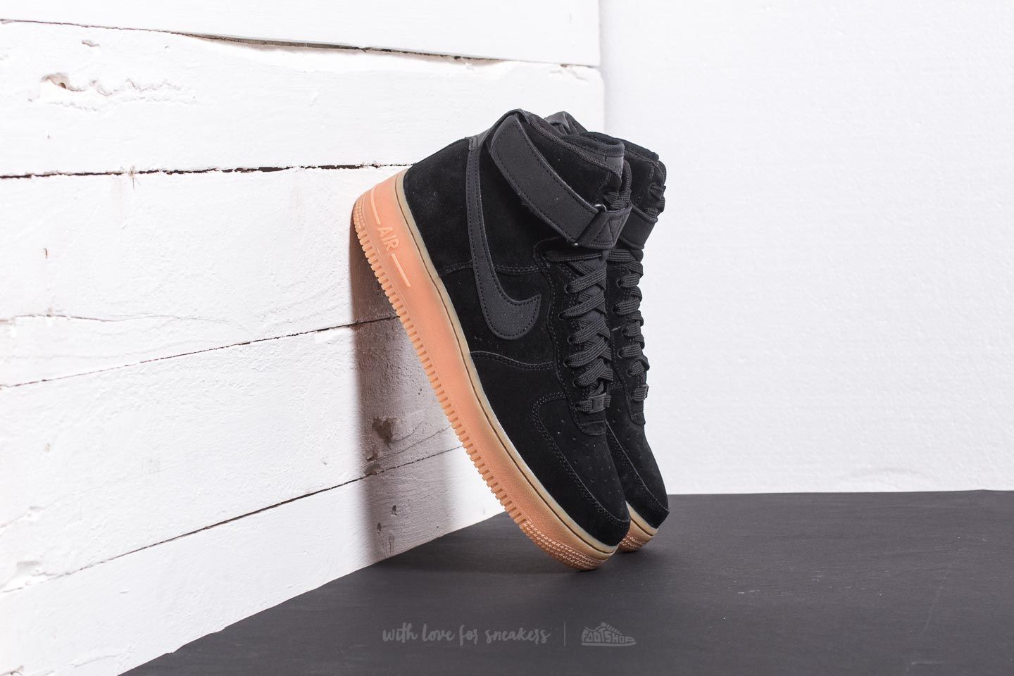 Nike Air Force 1 High '07 LV8 Suede Black/ Black-Gum Med Brown ...