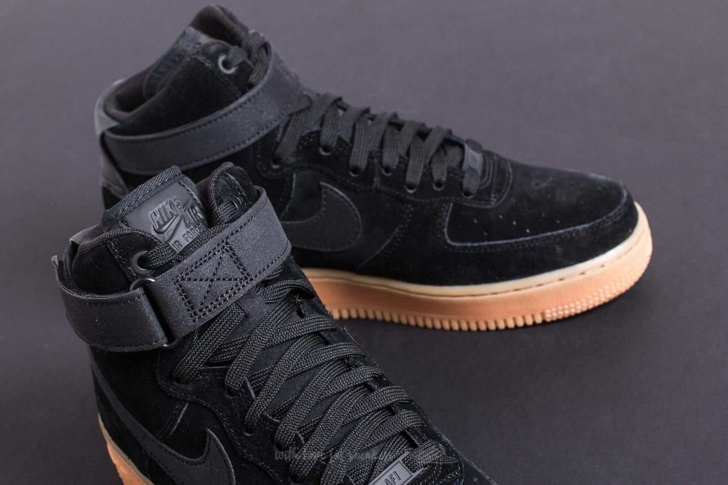 Nike Air Force 1 High '07 LV8 Suede Black/ Black-Gum Med