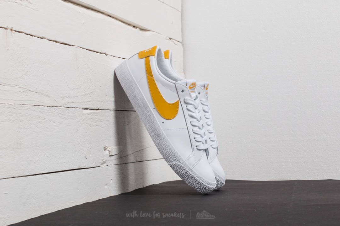 0b7071e5bb1d Nike SB Zoom Blazer Low White  Mineral Gold