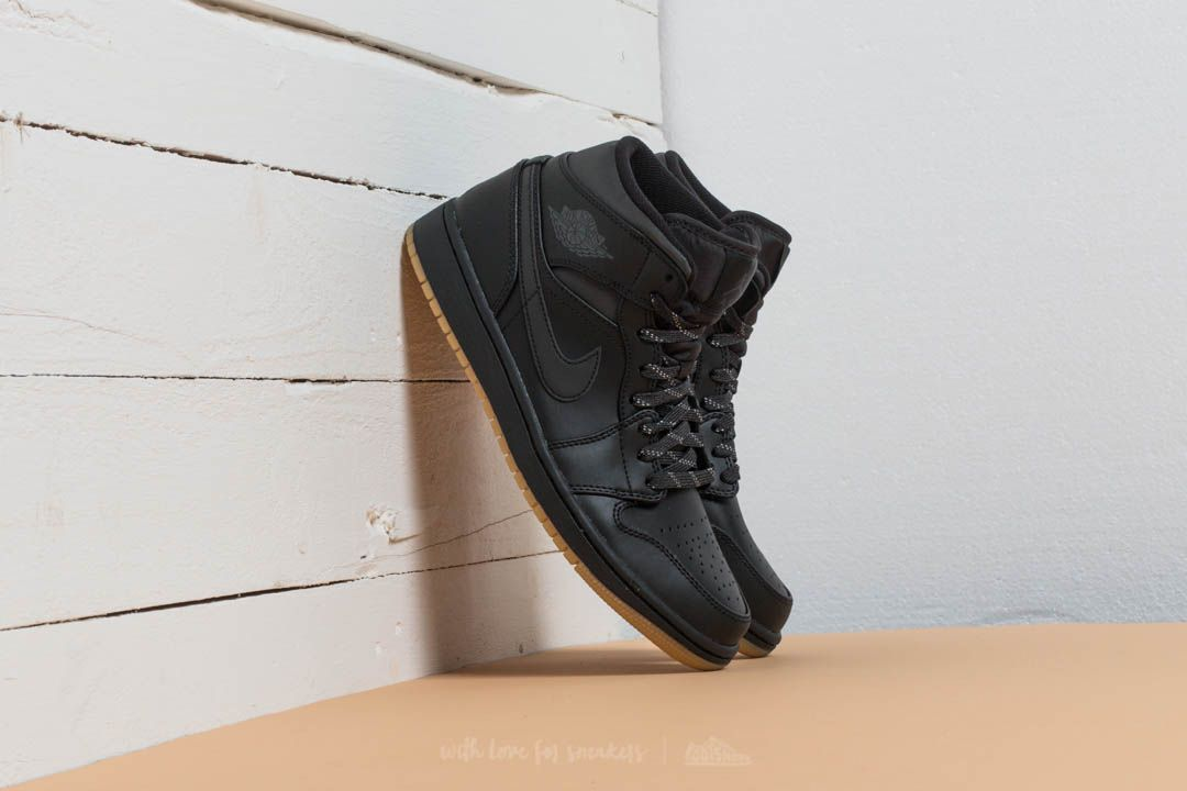 ec23e7acaef8 Air Jordan 1 Mid Winterized Black  Anthracite-Gum Yellow