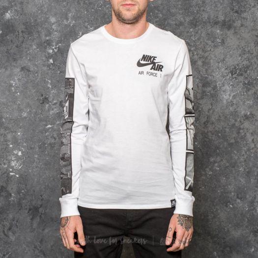 Nike Sportswear Air Force 1 Longsleeve TeeWhite Black