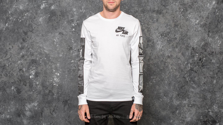 3372a9f2 Nike Sportswear Air Force 1 Longsleeve Tee White/ Black | Footshop