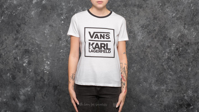 Vans x Karl Lagerfeld Wm Ringer Tee White | Footshop