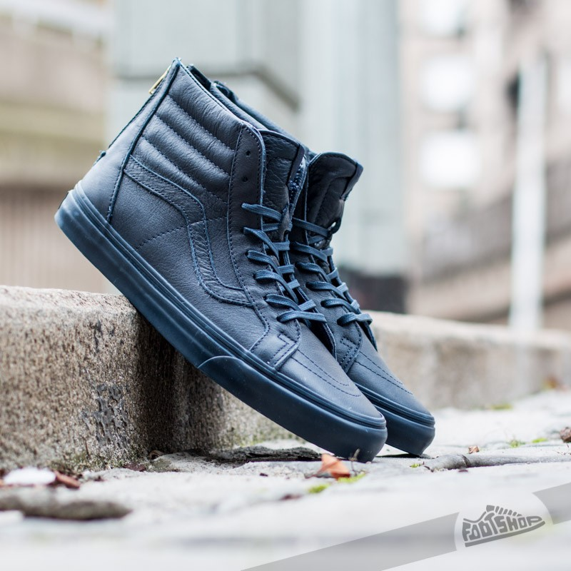 c4c78b9874151f Vans SK8-HI Zip CA (Boot Leather) Dress Blues