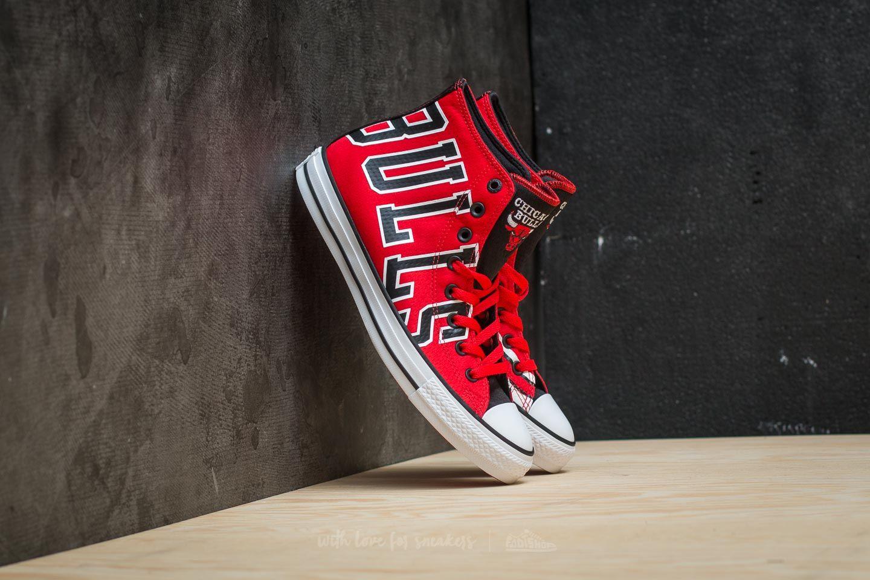 870a086846fd95 Converse x NBA Chuck Taylor All Star SE Hi Red  Black  White