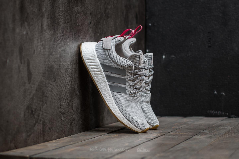 timeless design 290f0 0b9ed adidas NMD R2 W Primeknit. Grey Two  Grey Three  Shock Pink