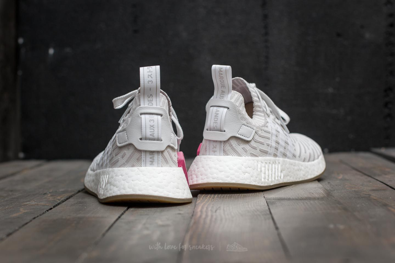 adidas NMD_R2 Primeknit W Footwear White Footwear White Shock Pink | Footshop