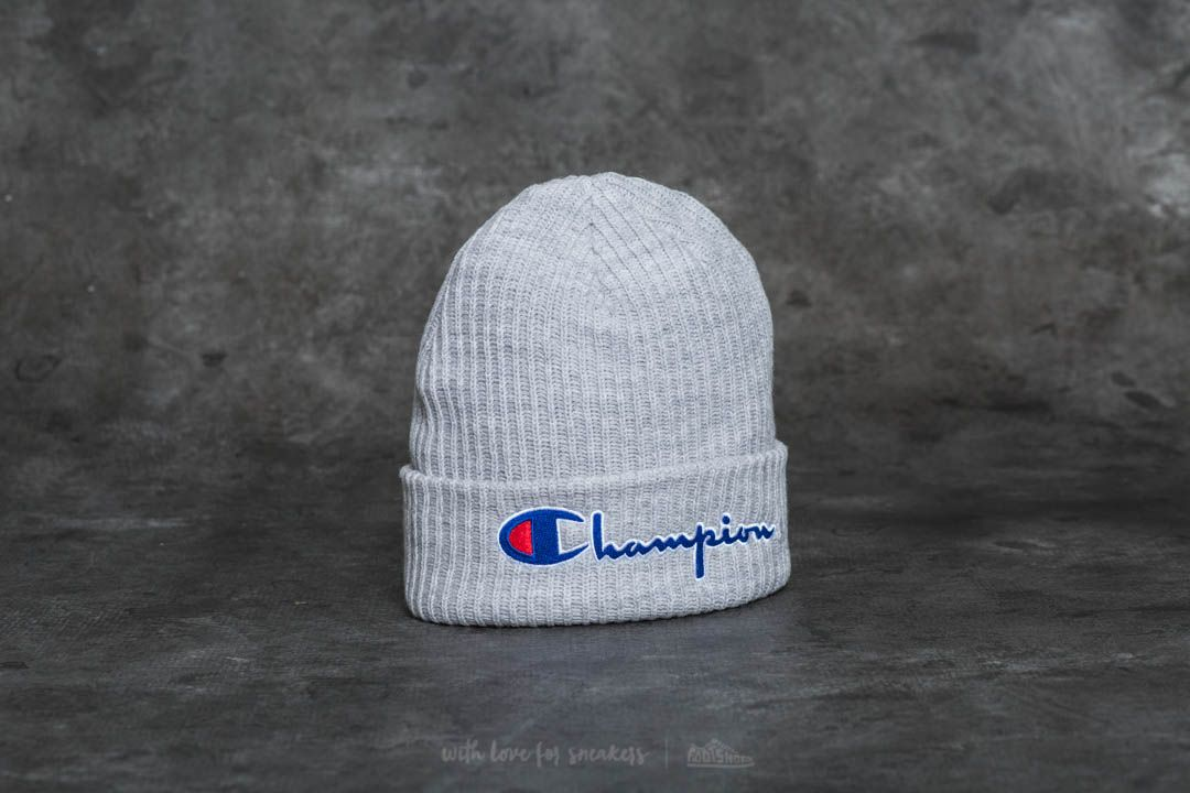4a66826d40c Champion Logo Beanie Cap Light Oxford Grey